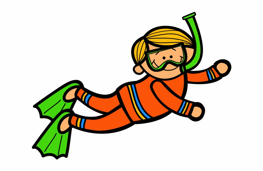 Diver clipart underwater diving. Woman scuba kid