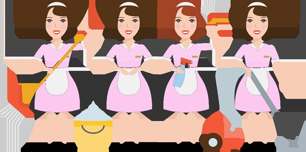Maid clipart dusting. Philadelphia service executive maids