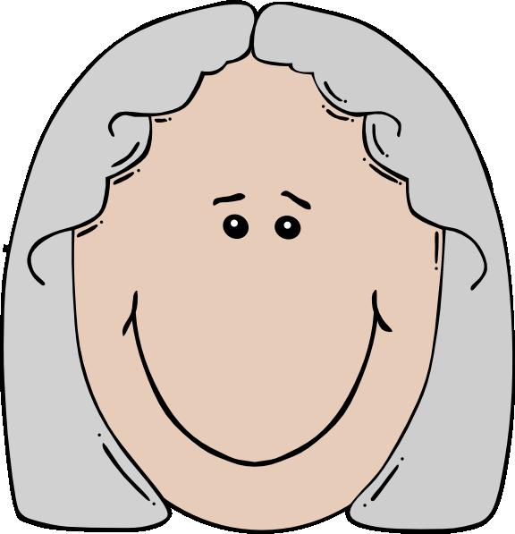 Old woman clip art. Faces clipart vector
