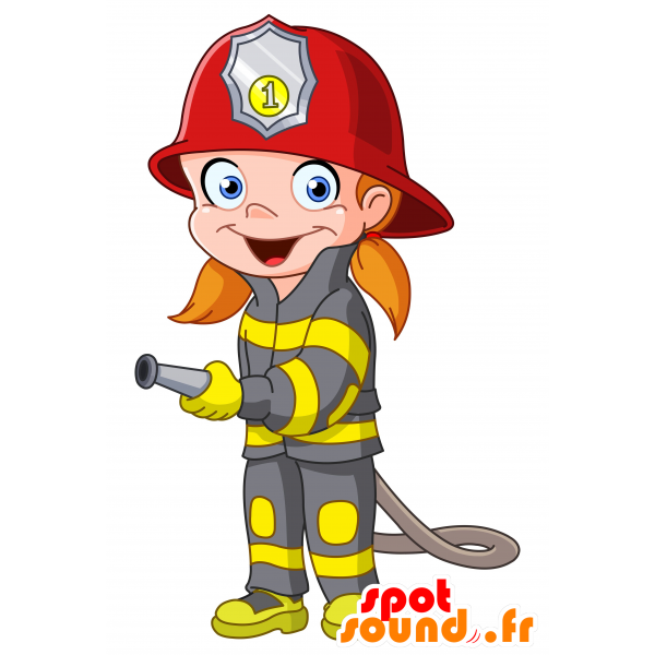 Purchase mascot firefighter in. Person clipart female
