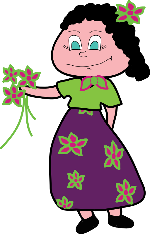 Smiley i royalty free. Clipart woman flower