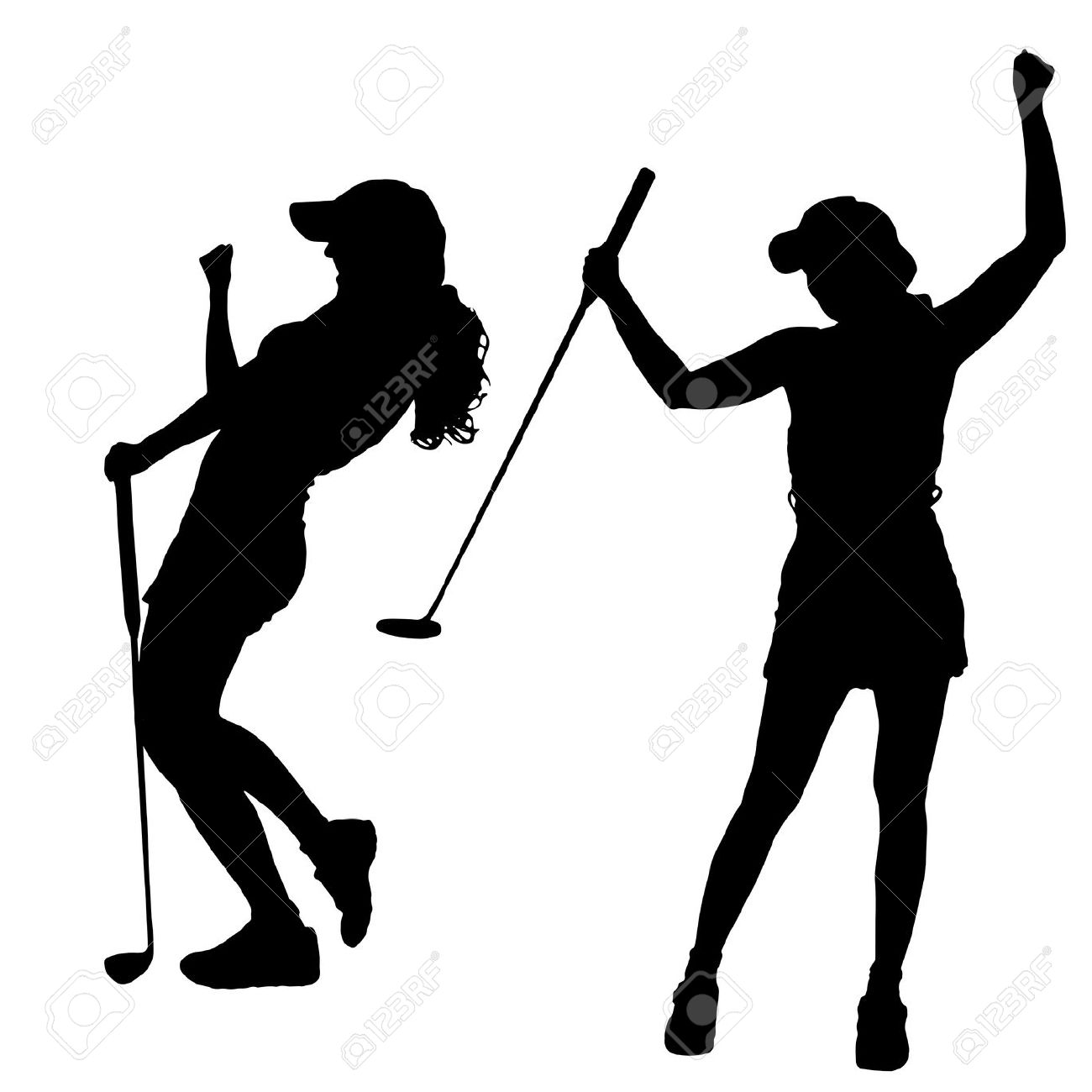 Golfing clipart lady. Ladies golf free download