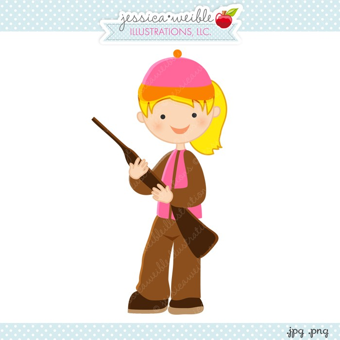 Hunting clipart woman hunter. Free cliparts download clip
