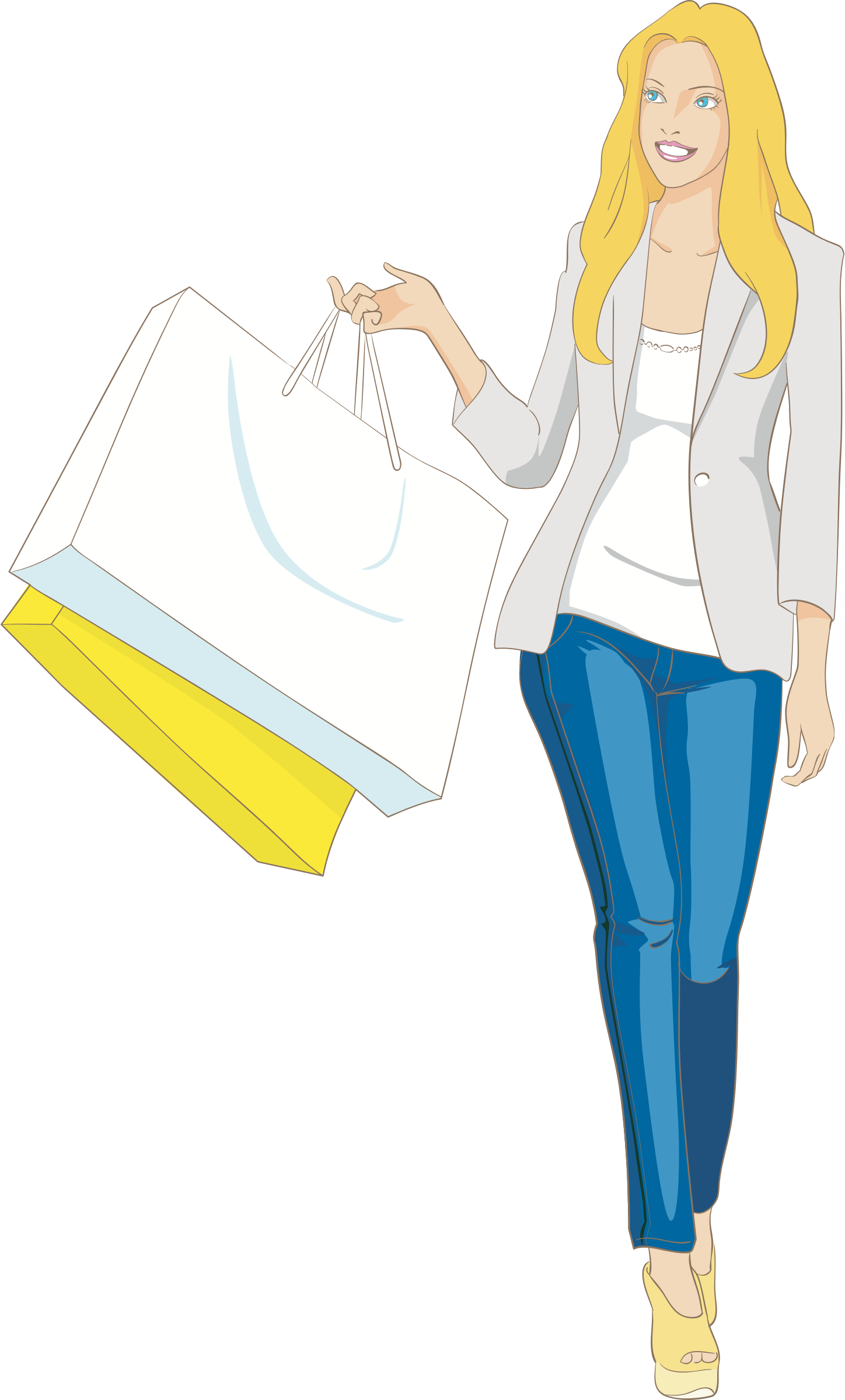 Fashion clipart shopper. Https openclipart org detail