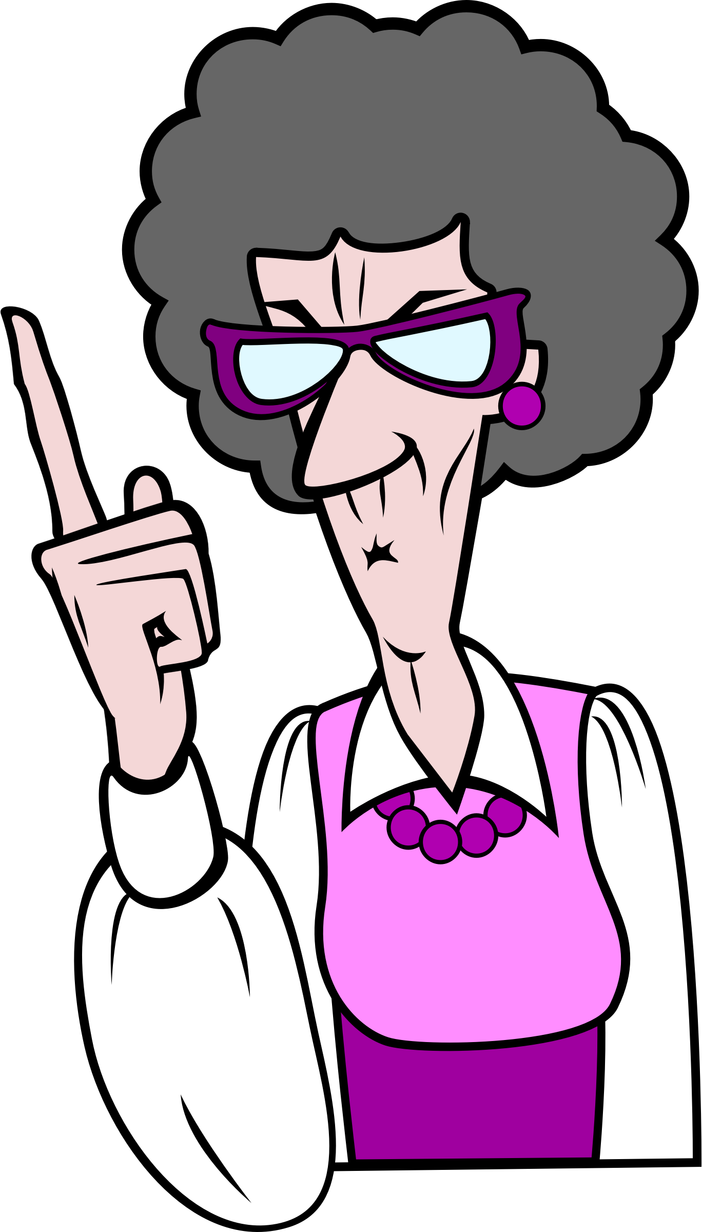 Pointing old woman big. Lady clipart older