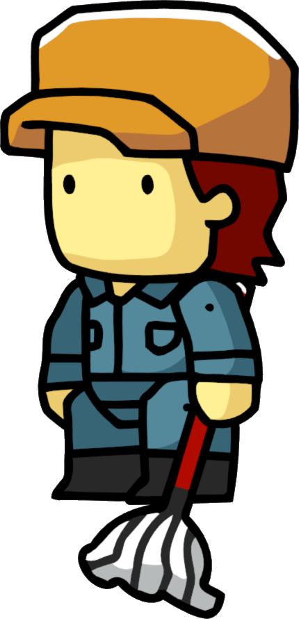Scribblenauts wiki fandom powered. Male clipart janitor