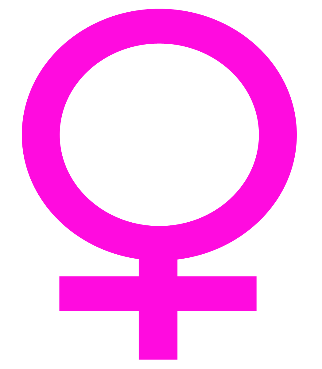 Woman symbol pink background. Hand clipart feminine
