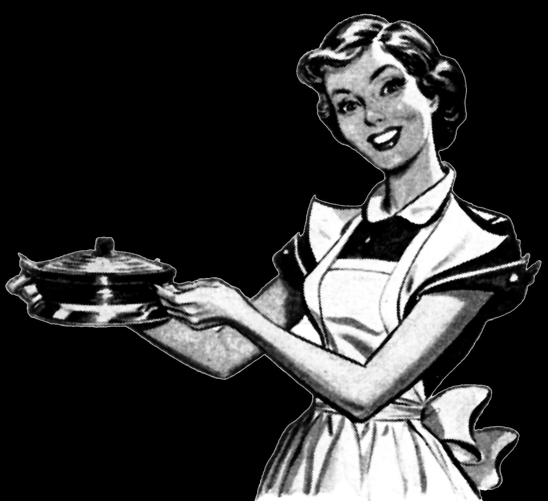best woman cooking. Kitchen clipart vintage