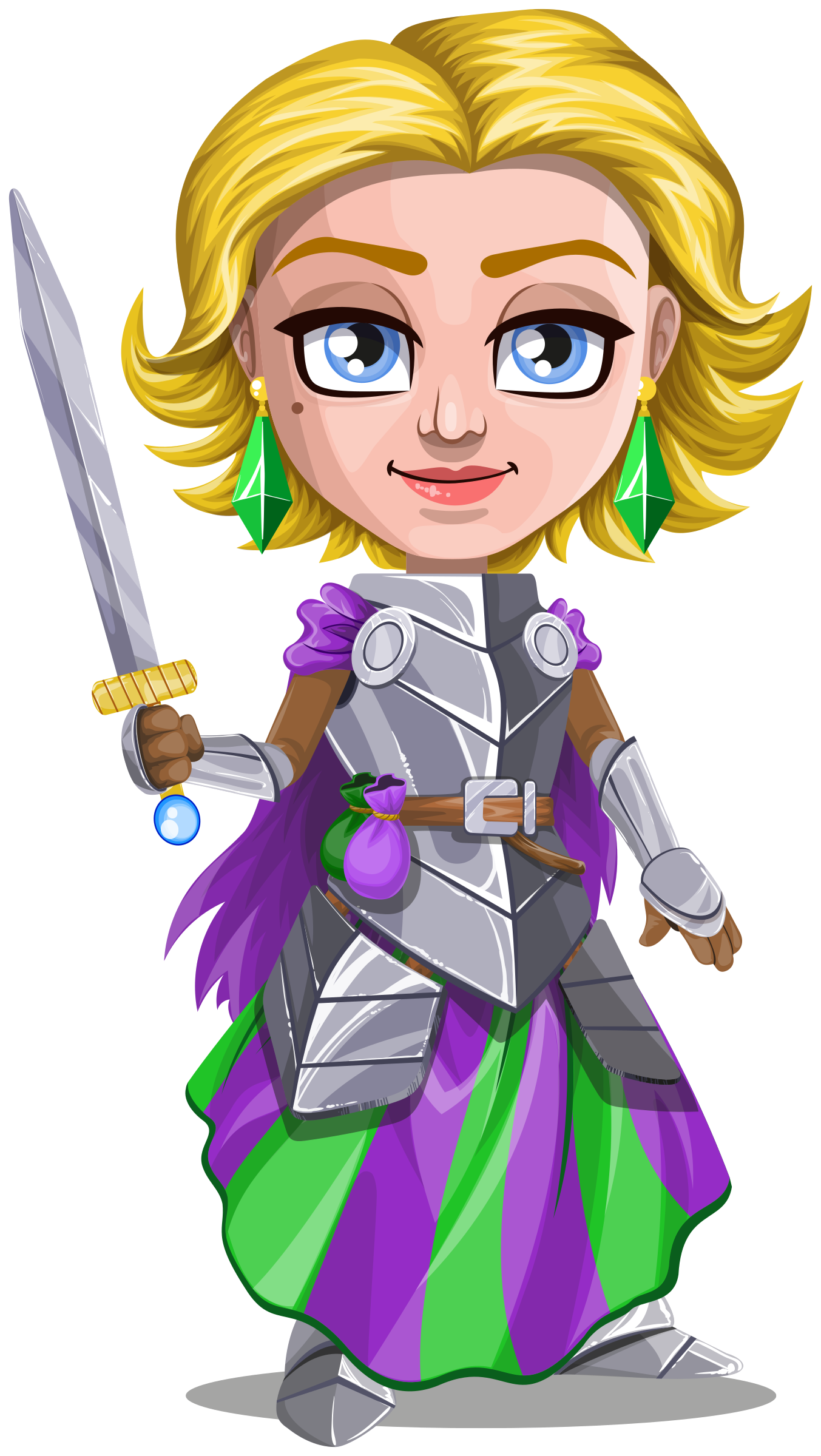 Woman knight in armor. Warrior clipart medieval warrior