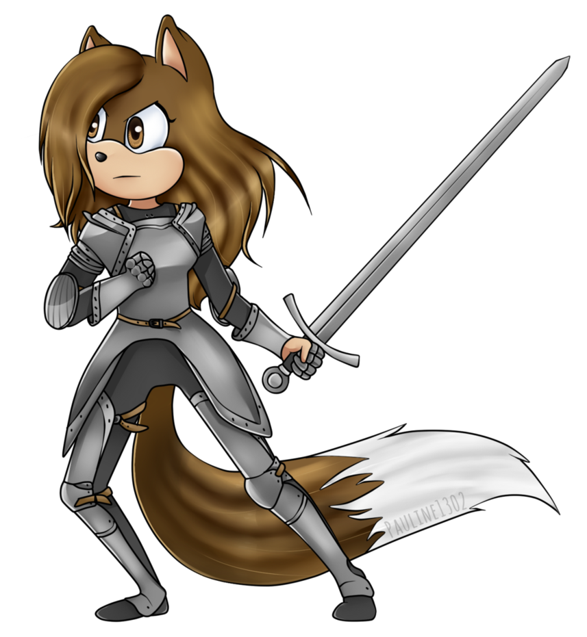 Knights clipart woman. Pauli the knight no