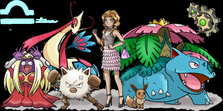Pokemon trainer livia by. Clipart woman libra