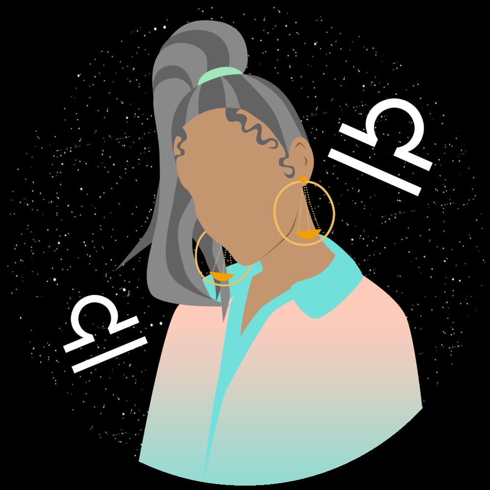 Conscious horoscopes love edition. Clipart woman libra