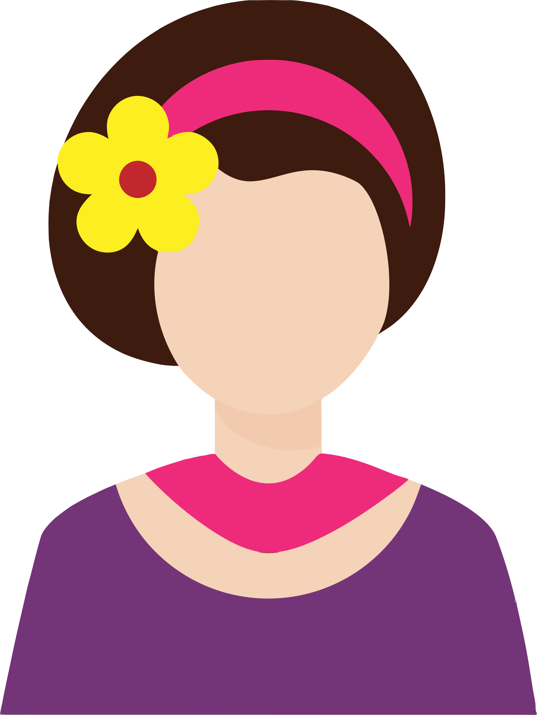 Female with flower in. D20 clipart avatar