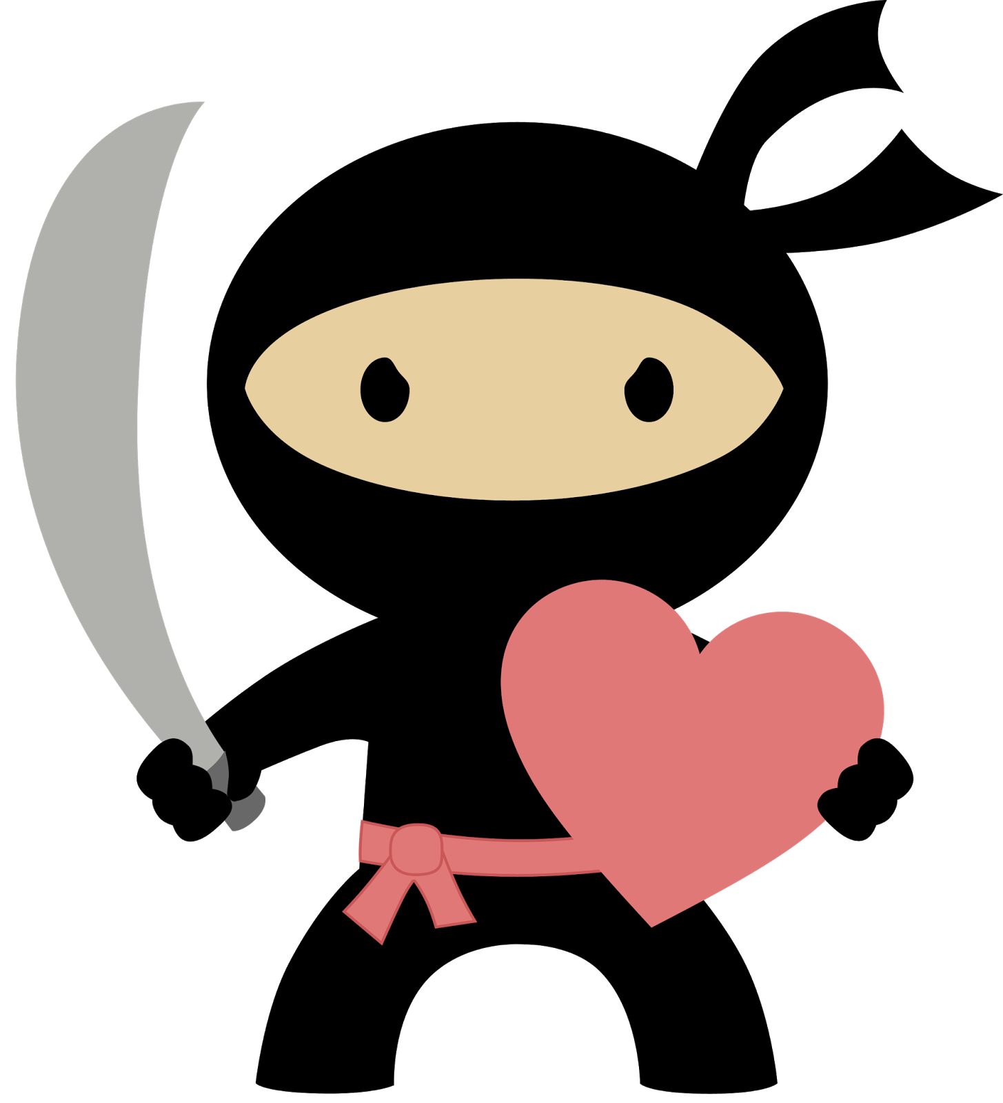 Ninja in love oh. Nice clipart won
