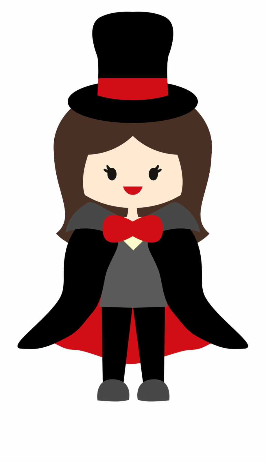 Book style teenager lady. Magician clipart comic