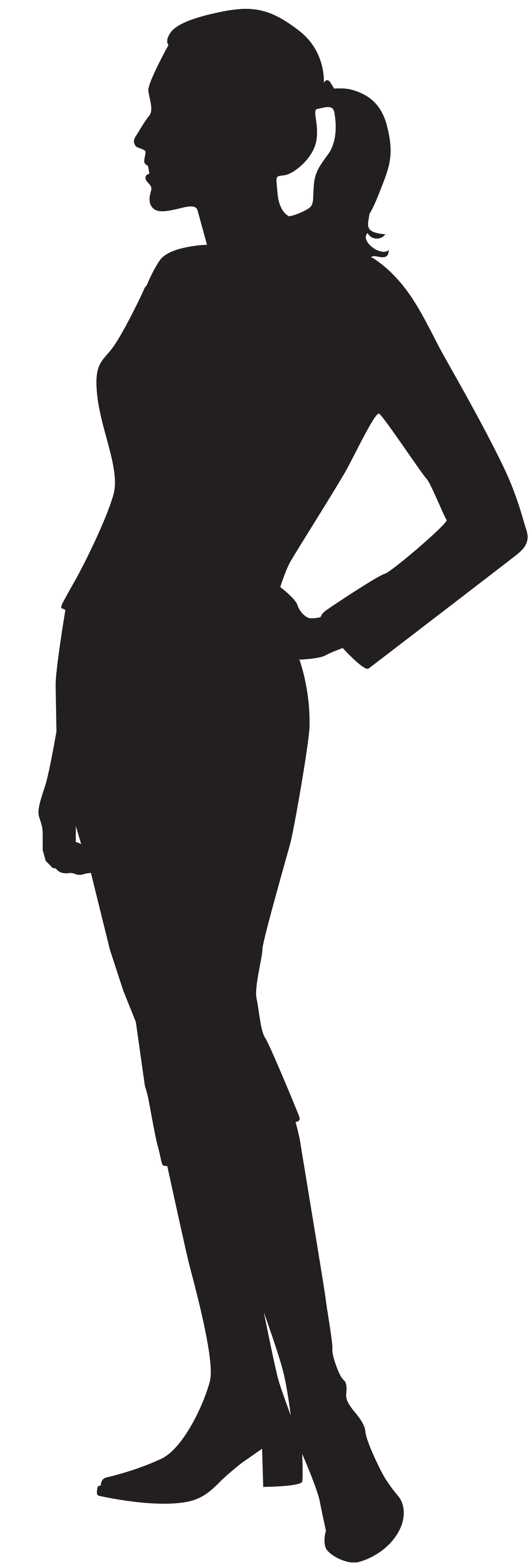 Female silhouette at getdrawings. Exercise clipart african american
