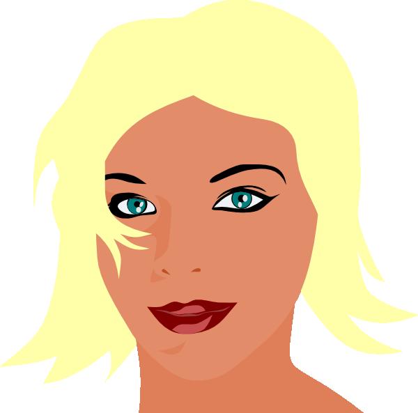 Eyeballs clipart female eye. Blonde girl with green