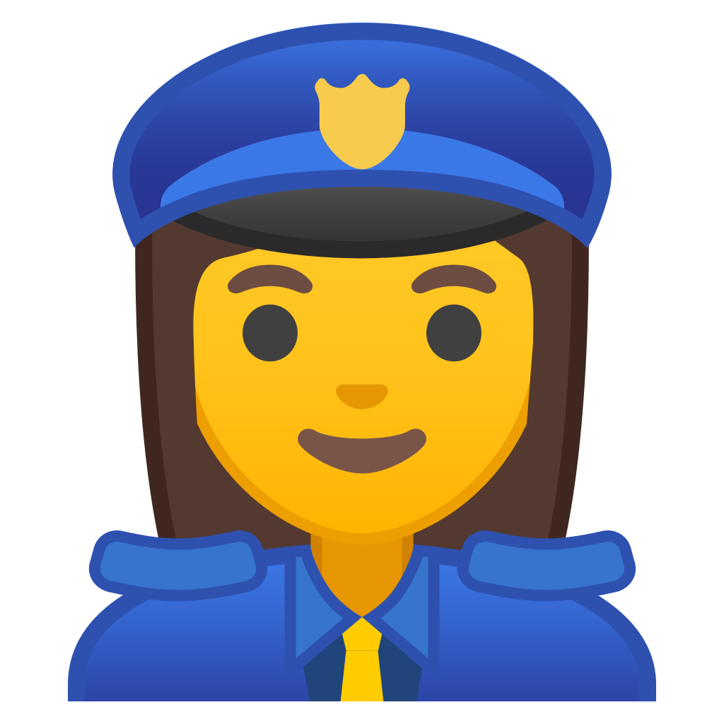 Officer icon noto emoji. Clipart woman police man