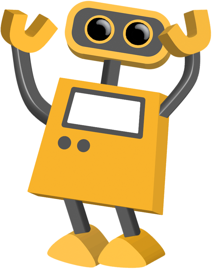 Tech cartoons tim robot. Excited clipart speech delivery