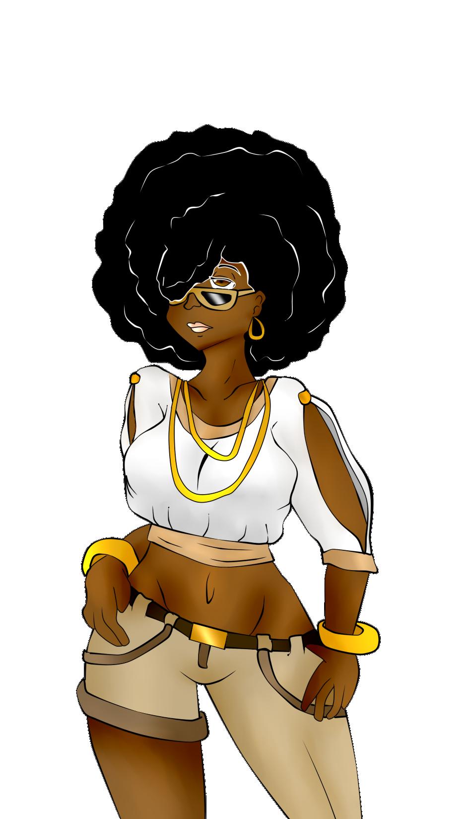 Queen clipart afro. Girl black art pinterest
