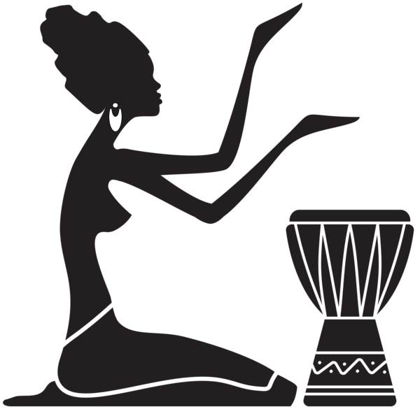 African women silhouette png. Female clipart afro