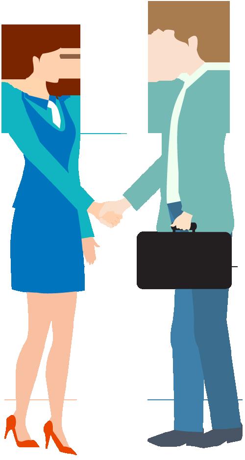 Handshake clipart business person. Portfolio categories designshop cartoon