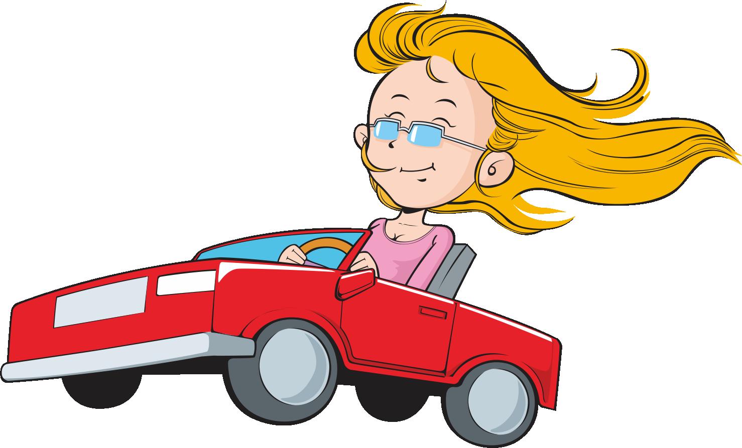 Car driving transprent png. Clipart woman truck driver