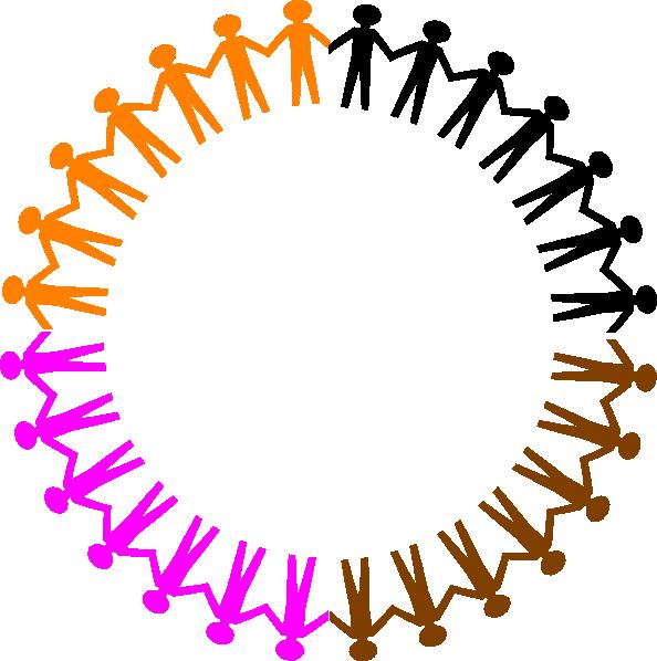 Handprint clipart circle. Unity clip art at