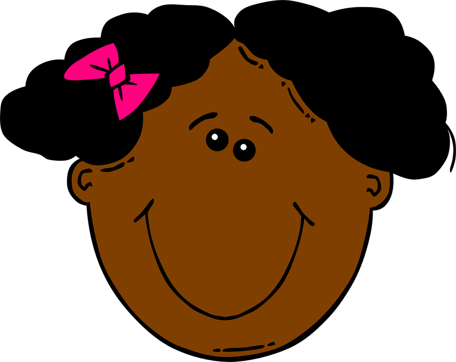 Short clipart child. Happy girl black collection