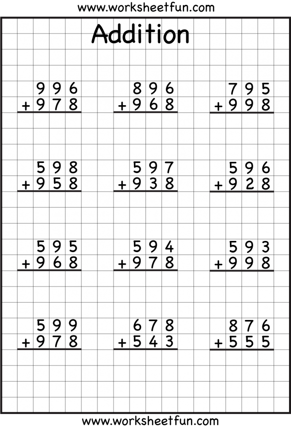 Notebook clipart math addition. With regrouping worksheets i
