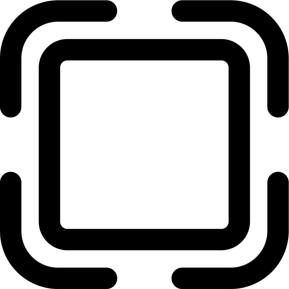 Button of rounded shape. Square clipart black outline