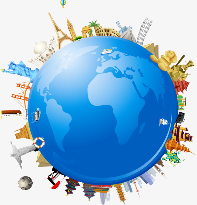 Global earth globe travel. Clipart world