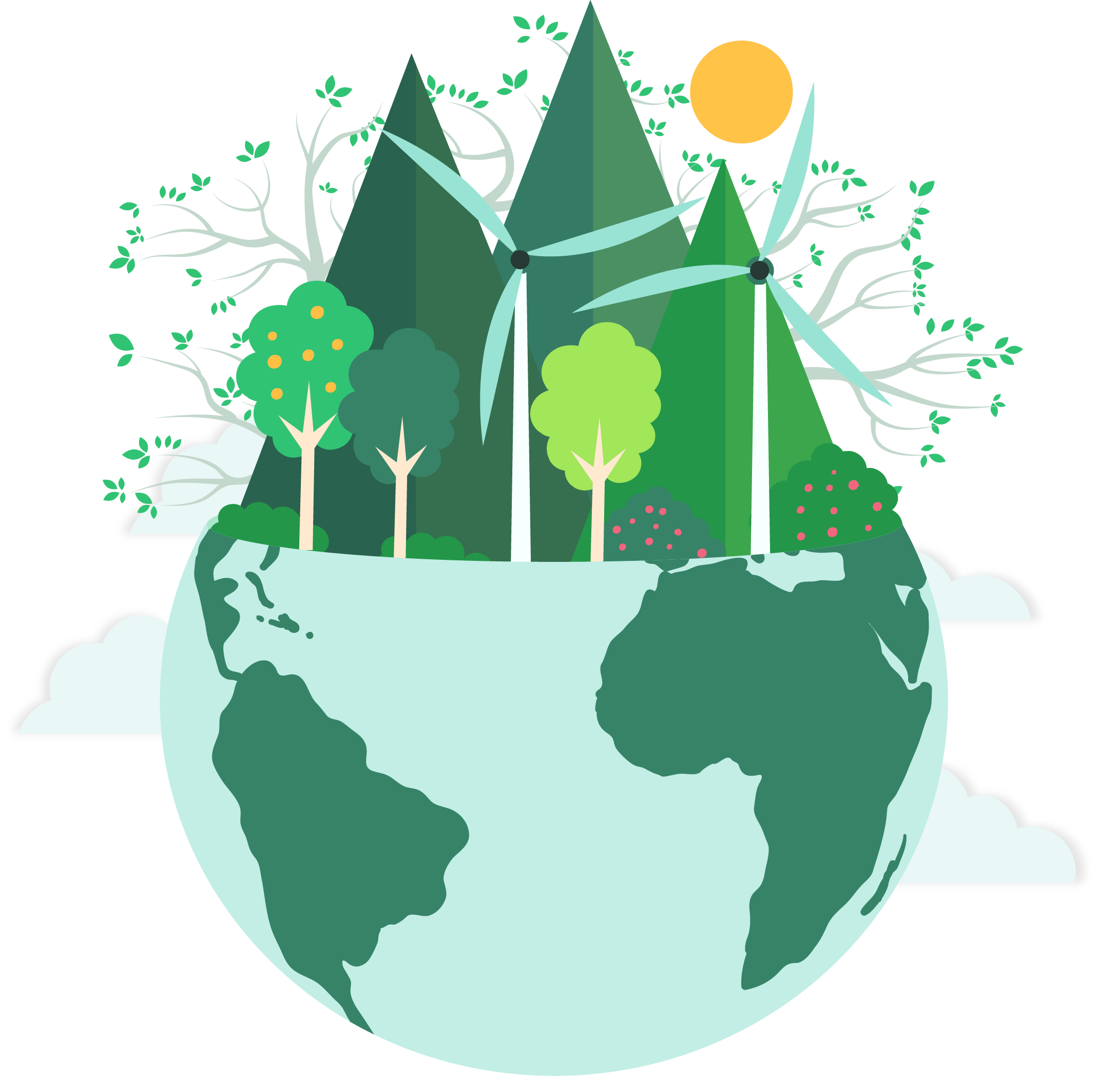 Environment clipart sustainable living.  earth month calendar