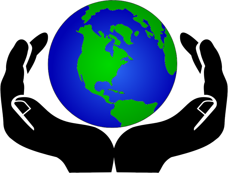 World in medium image. Hands clipart party