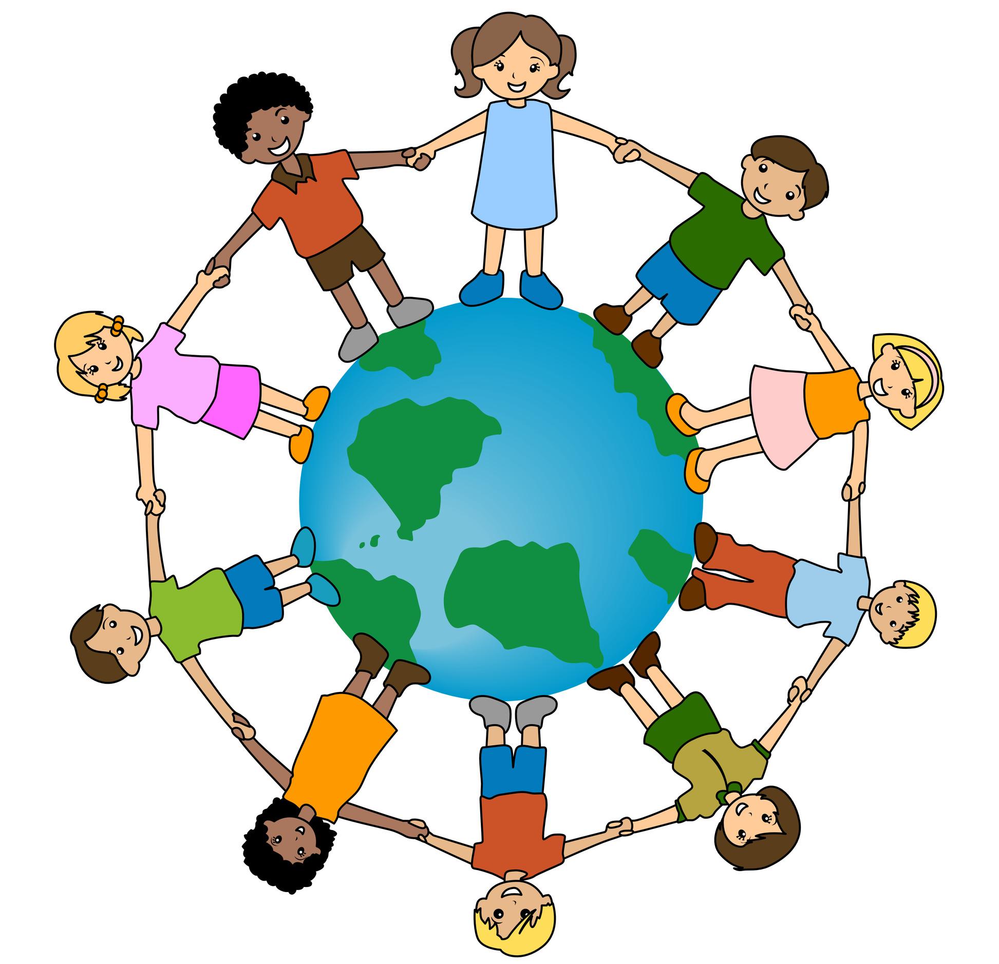 Free children of the. Clipart world all around