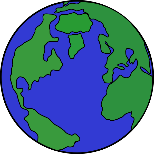 Cartoon world clip art. Planets clipart comic