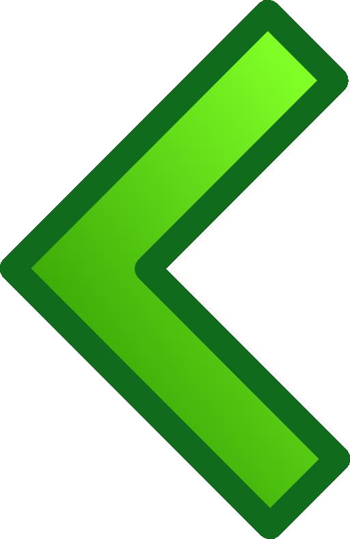 Clipart world arrow. Green single arrows set