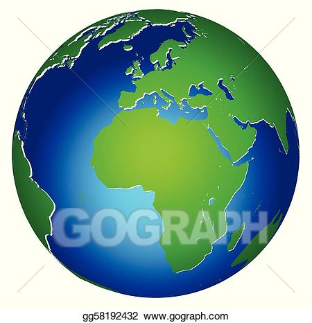 Clipart world atmosphere earth. Vector stock global planet