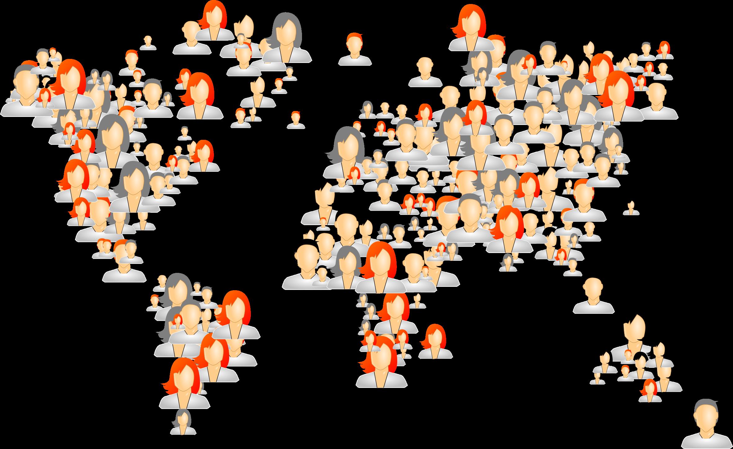 Clipart world celebration. Avatars map big image
