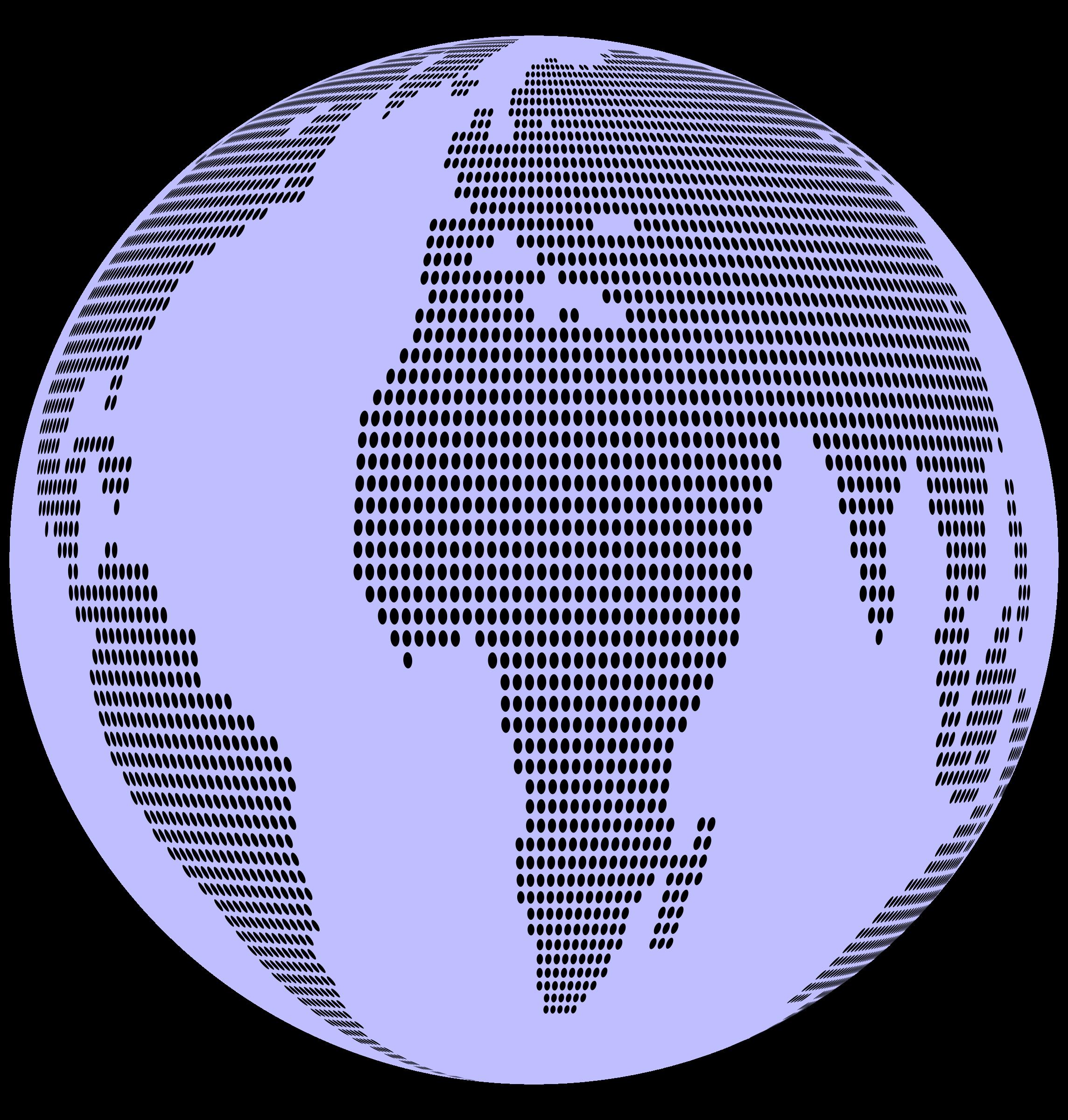 Map dots globe big. Clipart world circle