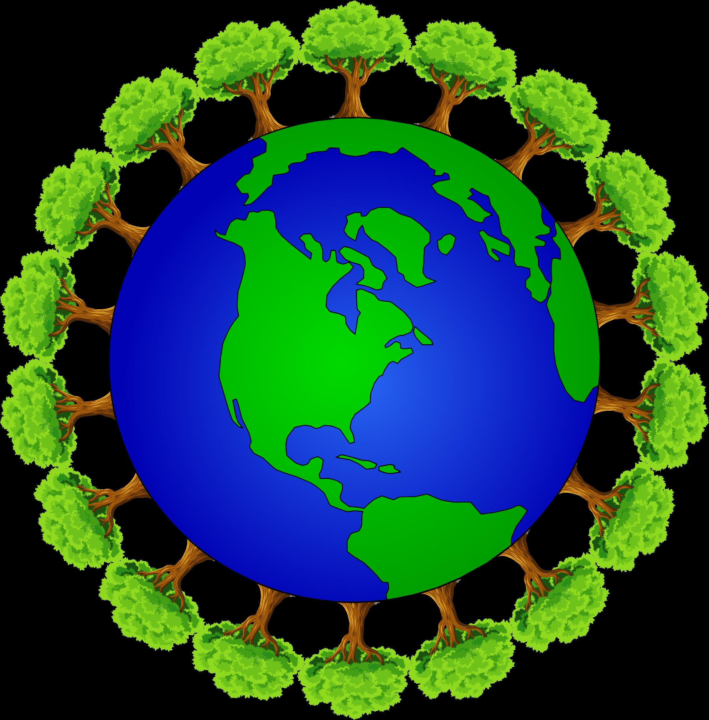 Clipart world circle. Arboreal earth big image