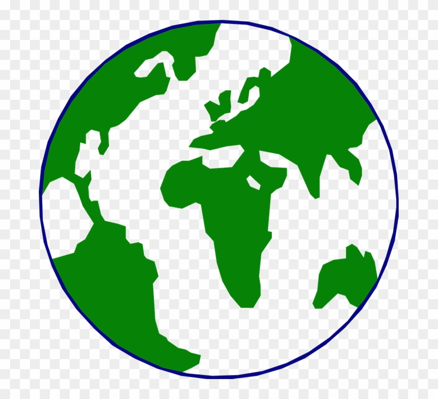 Clipart world circle. Map in a pinclipart