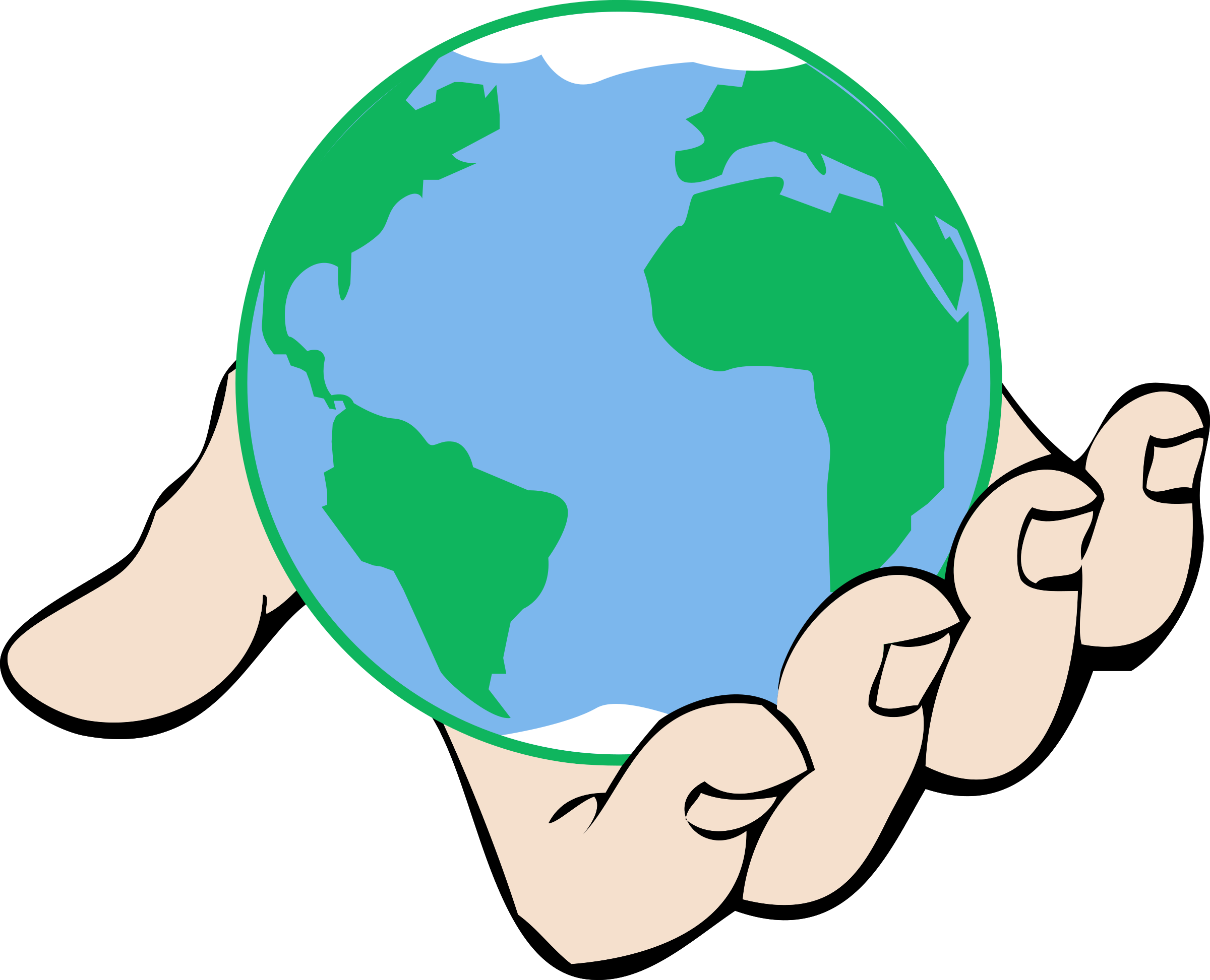 In hand big image. Clipart world clip art