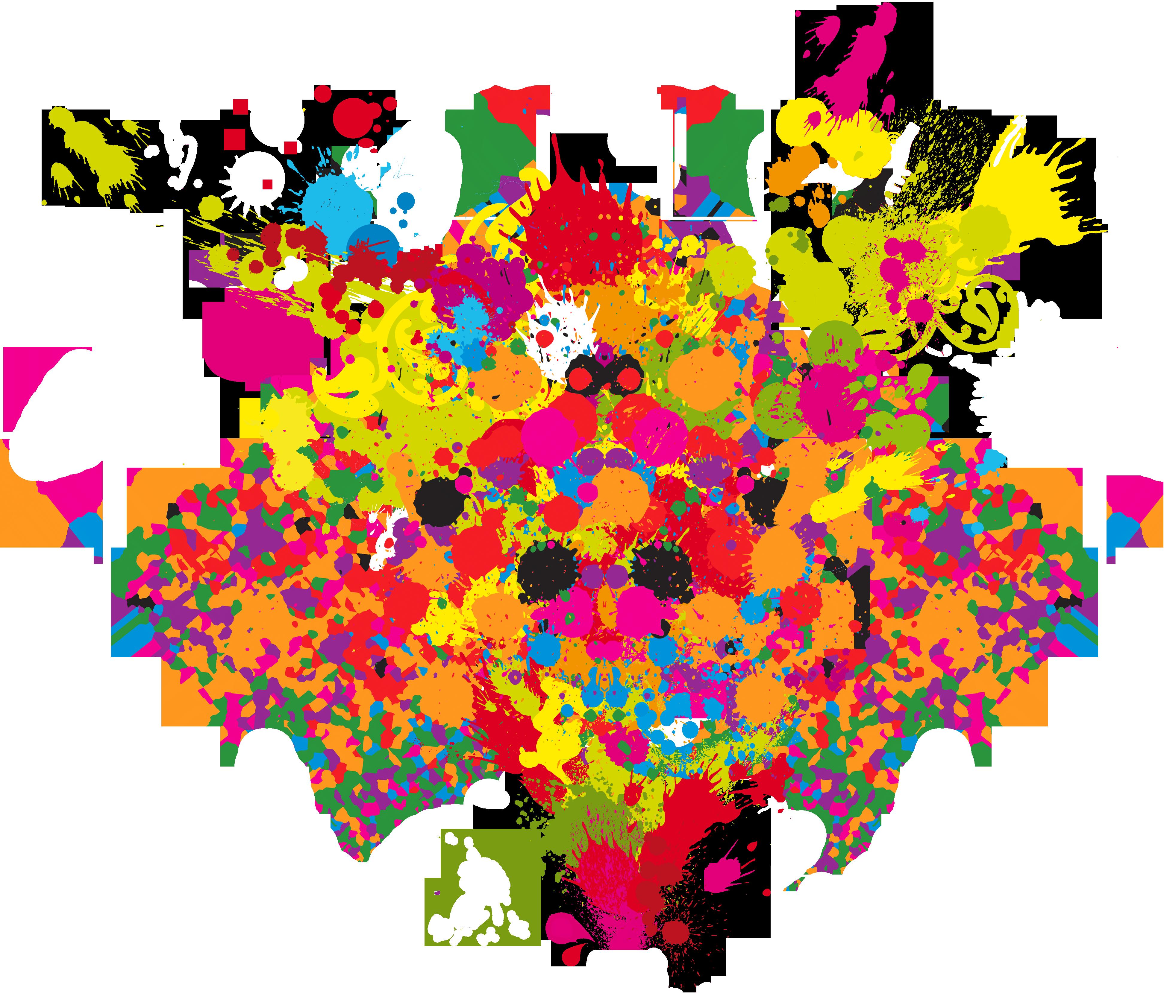 Explosion clipart paint.  colorful splash png