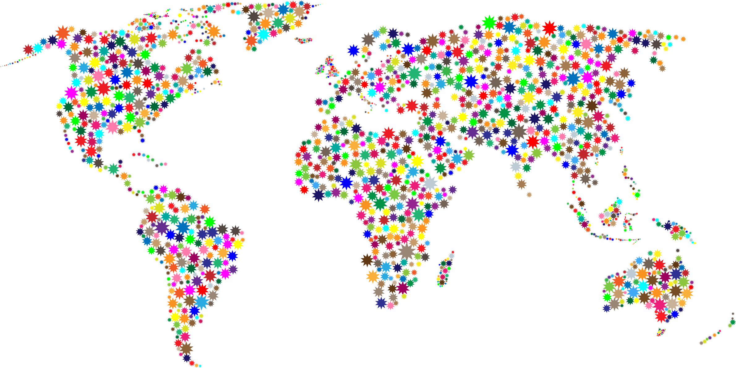 Confetti clipart sprinkles. Colorful stars world map