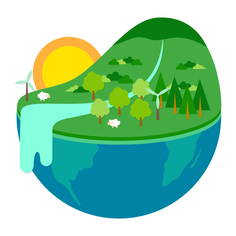 Half earth ecology natural. Energy clipart environment protection