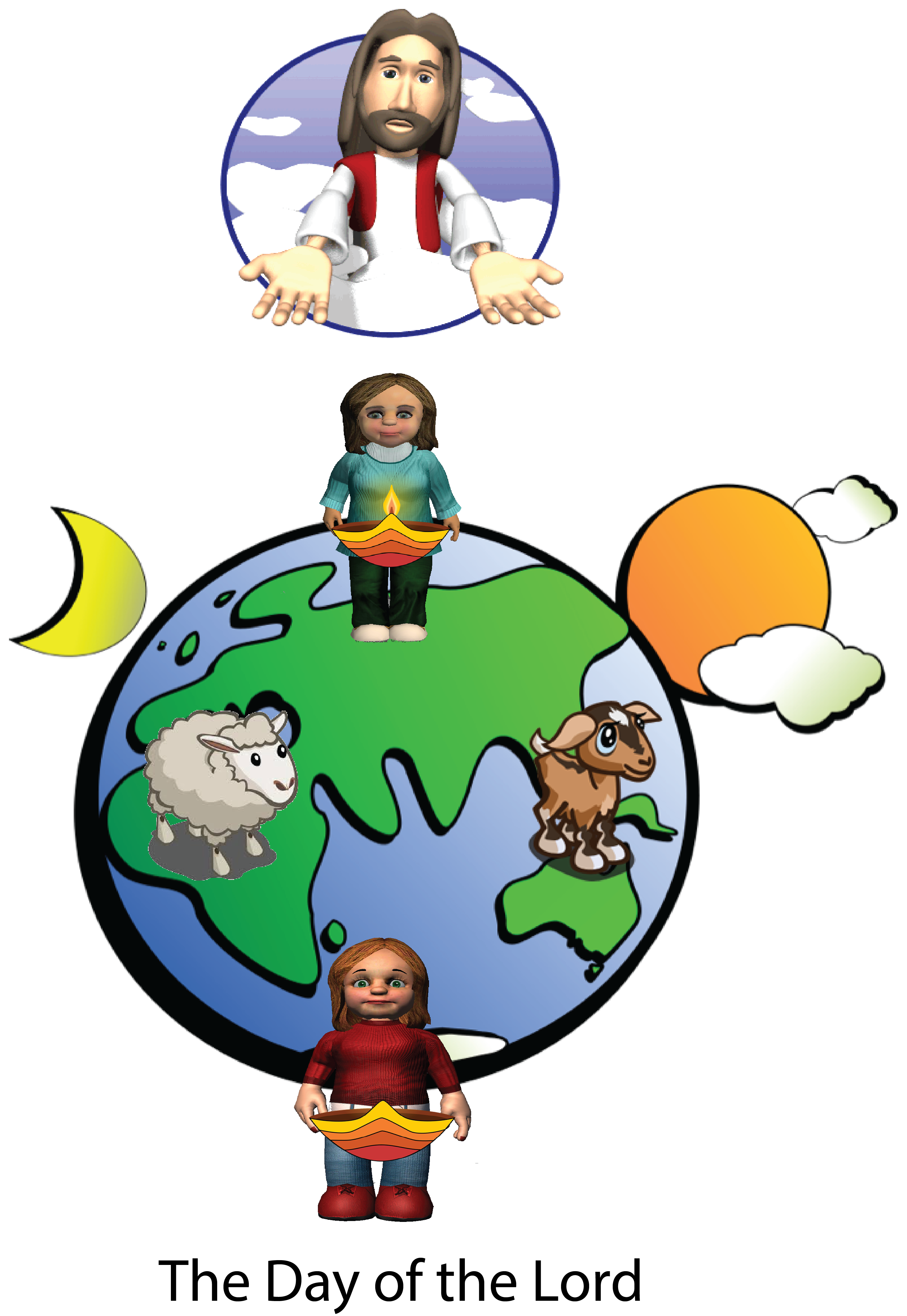 Sheep and the goats. Heaven clipart throne god