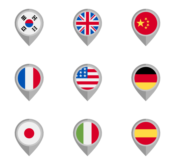 Icons free vector flags. Country clipart country flag
