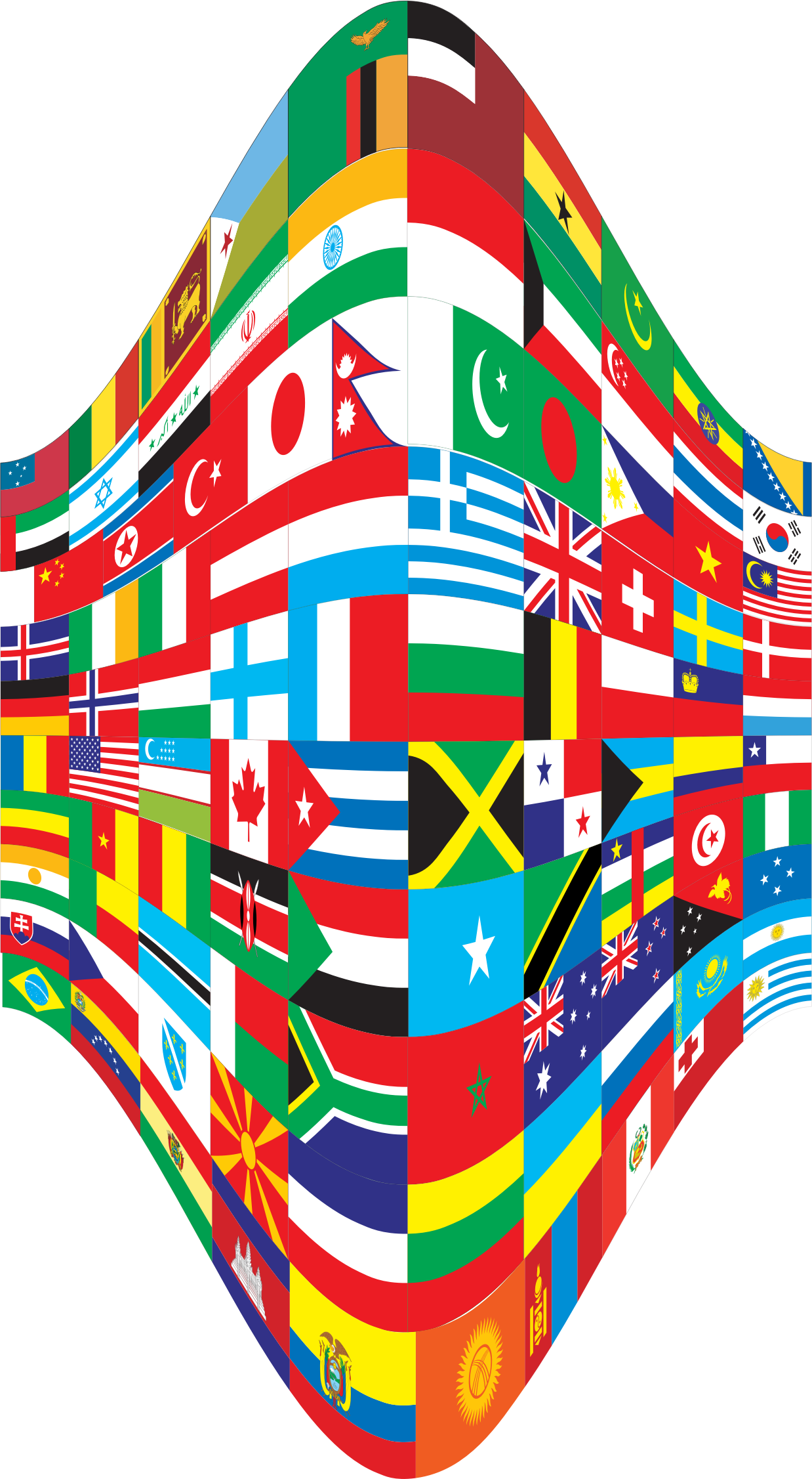 Clipart world flags. Perspective big image png