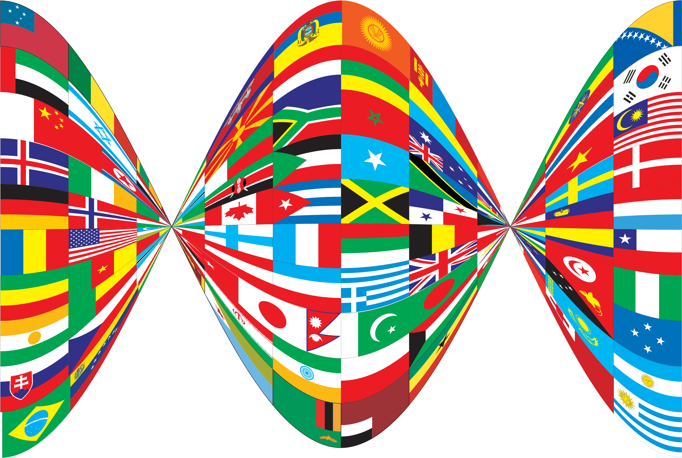 Twist big image png. Clipart world flags